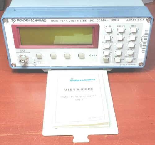 Rohde & Schwarz URE3 DC 30MHz RMS Peak Voltmeter 350.5315.03 Tested Lightly Used