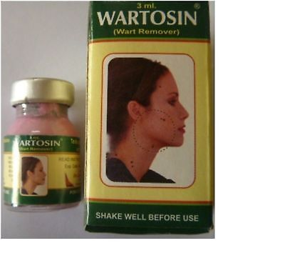 WARTOSIN WART REMOVER FROM FACE,NECK AXILLA TAG REMOVER 3 ML EACH//BEST