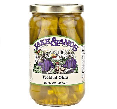 Jake & Amos Pickled Okra 16 oz. (3 Jars)