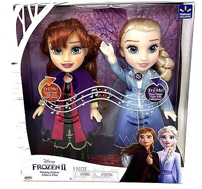 Frozen 2 Singing Sisters Anna and Elsa Walmart Exclusive