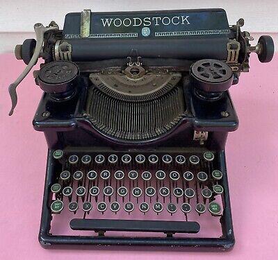 Vintage Woodstock Antique Manual Typewriter Early 1900s