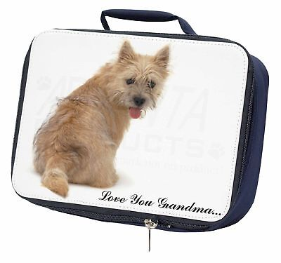 Cairn Terrier 'Love You Grandma' Navy Insulated School Lunch Box B, AD-CT1lygLBN