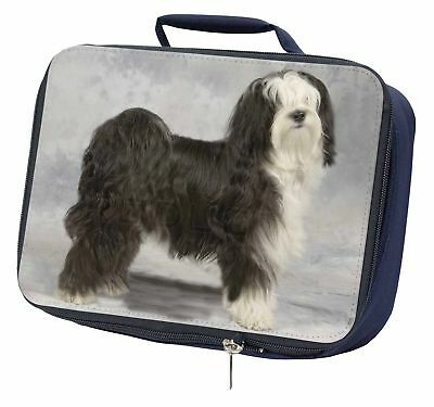 Tibetan Terrier Dog Navy Insulated School Lunch Box Bag, AD-TT3LBN
