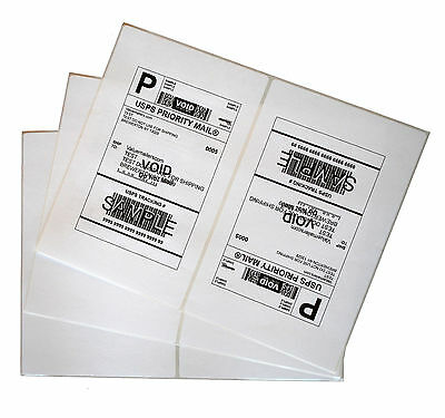 Labels 8.5x5.5 500 Shipping 8.5x5.5 Half-Sheet Self Adhesive VM Brand Labels