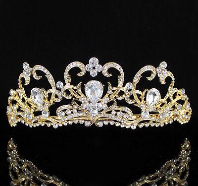 Heart Clear Austrain Crystal Rhinestone Tiara Hair Crown Bridal Prom T805g Gold](Heart Tiara)