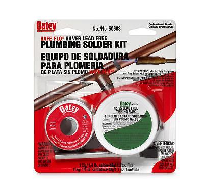 Oatey 50683 Safe-flo Lead Free Plumbing Solder Kit 8 Oz Silver