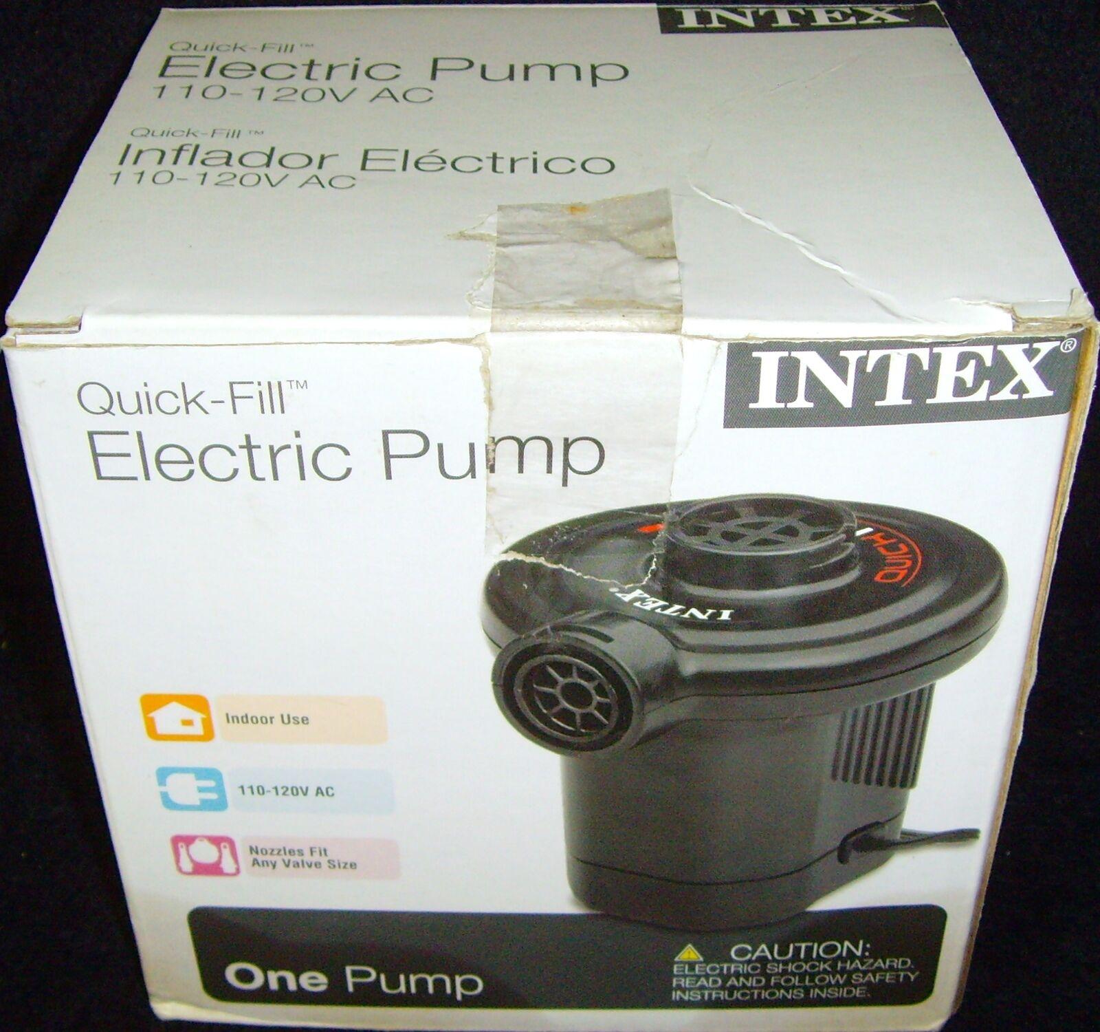 Intex 120v Quick Fill Ac Electric Air Pump W Nozzles 66619e Air Beds Boats Toys