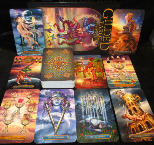 SEALED NEW ~ GILDED TAROT ROYALE TAROT CARDS & BOOK ORACLE ENCHANTMENT & WONDER