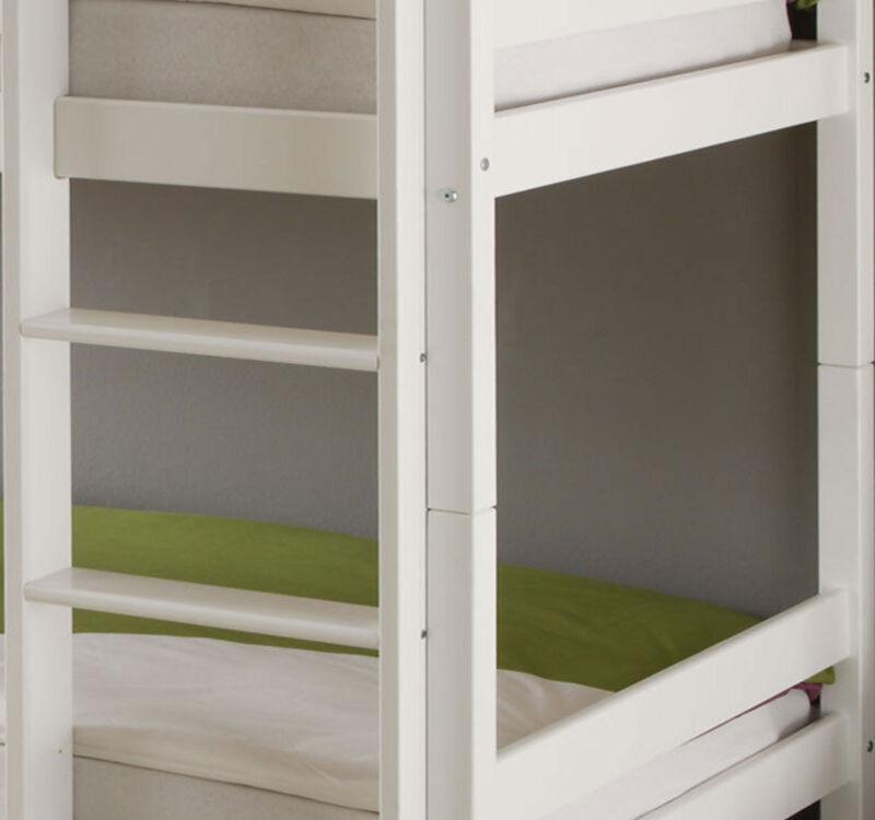 Kinderbett Etagenbett Weiss Hochbett Spielbett Massiv Stockbett 90 x 200 cm Bett