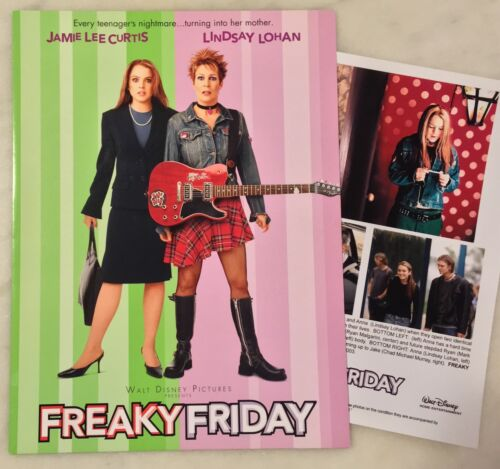 FREAKY FRIDAY (2003) Press Kit Folder, Photos; Lindsay Lohan, Jamie Lee Curtis