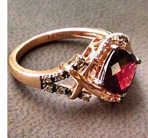 Rose Gold Chocolate Diamond Ring Ebay
