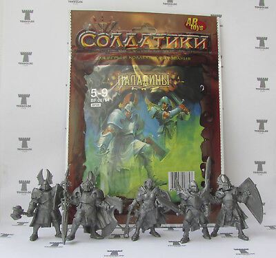 Paladins 54 mm - 5 Figures SOFT plastic Tehnolog Russian Toy Soldiers 1:32