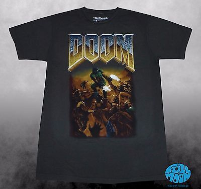 New Doom 8 Bit Vintage Video Game Fight Mens Classic T Shirt