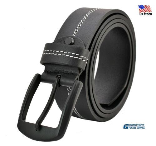 Mens Genuine Leather Belt Belts For Jeans Business Casual Dress Brown Black Usa