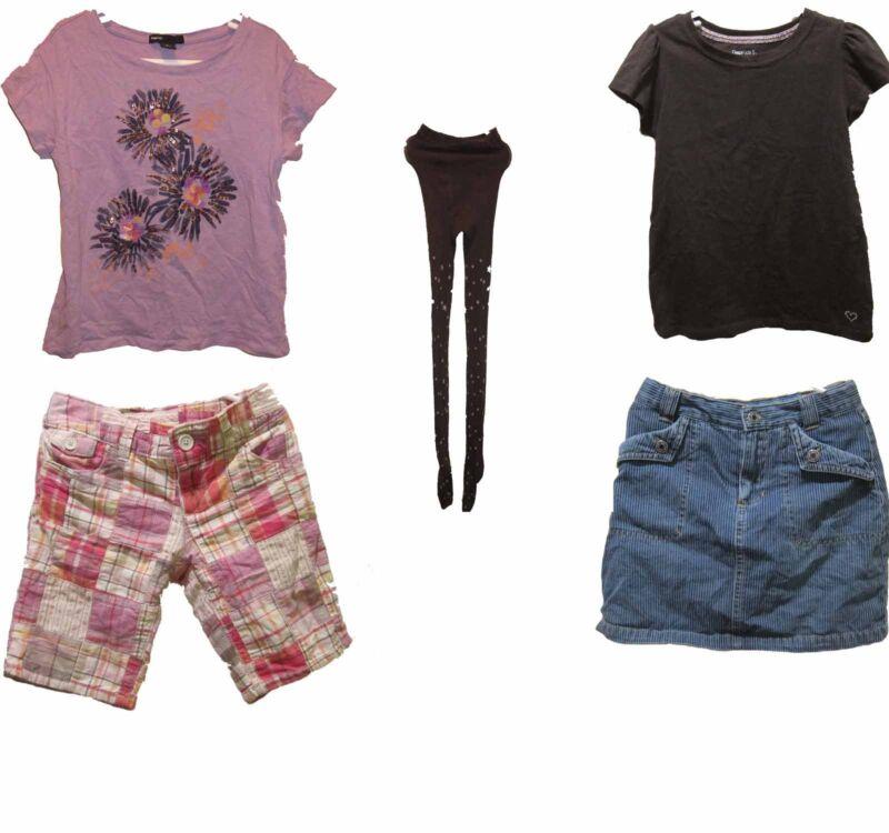 Gap Kids Girls Sizes 6-7 Small Shirts, Shorts, Skirt Skort Tights Lot Of 5 Euc S