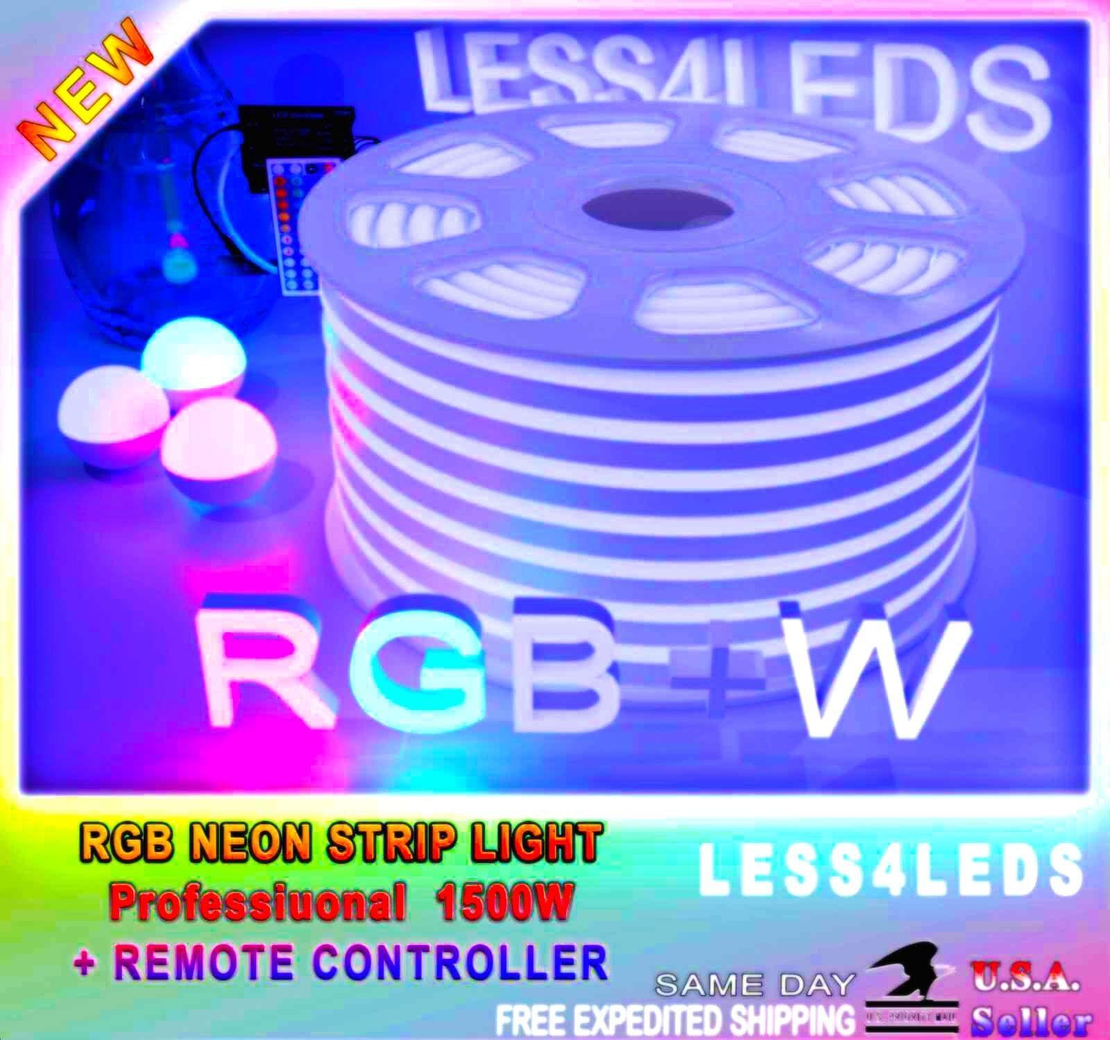 110V  RGB Neon Rope LED Strip Light RGB +W Outdoor flexible