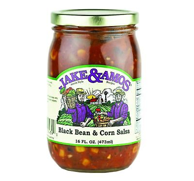 Jake & Amos Black Bean & Corn Salsa 16 oz. (3 Jars)