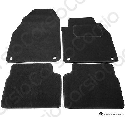 Saab 9-3 2003 to 2014 Tailored Carpet Car Floor Mats Black 4pc Set