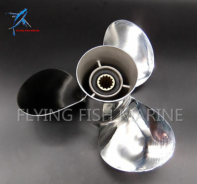 13 x17 Stainless steel Outboard Propeller 688-45930-02-98 For Yamaha 50-130HP