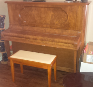 Chestnut Upright piano - made in the 1920s.