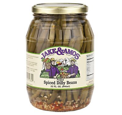 Jake & Amos Pickled Spiced Dilly Beans 32 Oz. (2 Jars)