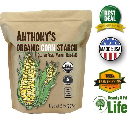 ORGANIC CORN STARCH 2 lb Gluten Free Vegan & Non GMO Tasteless and Odorless
