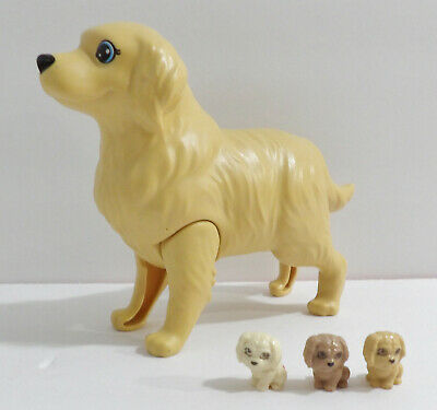 Mattel Barbie Birthing Mom Dog and 3 Newborn Puppies