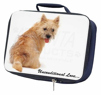 Cairn Terrier Dog With Love Navy Insulated School Lunch Box Bag, AD-CT1uLBN
