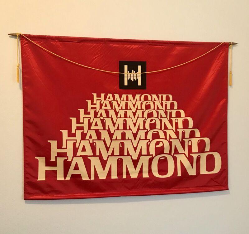 NOS vintage Hammond organ & Leslie speaker satin showroom wall banners! Nice Pr!