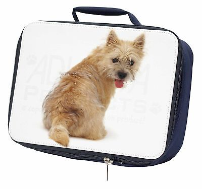 Cairn Terrier Dog Navy Insulated School Lunch Box Bag, AD-CT1LBN