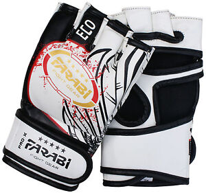 Farabi 4-oz MMA gloves sparring training mix martial art boxing size S/M