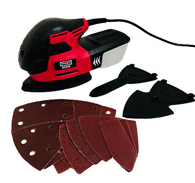Lumberjack Detailed Mouse Sander with Dust Box & Sanding Sheets Electric 240v