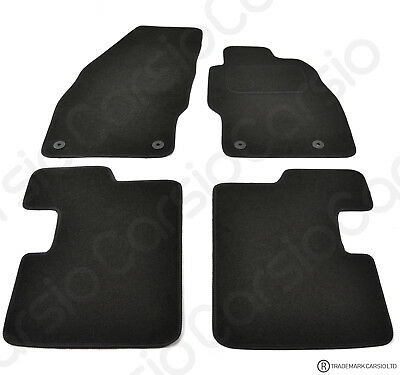 Car Parts - Vauxhall Corsa D & E 2007 Onwards Tailored Black Car Floor Mats 4 Piece Set
