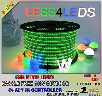- 110v-120v LED Strip Light RGB+W Outdoor Holiday 5050 flexible 15m-100m