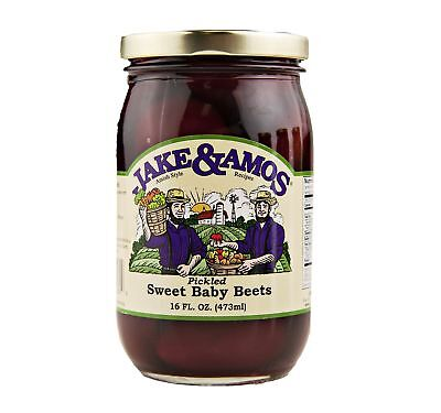 Jake & Amos Pickled Sweet Baby Beets 16 oz. (3 Jars)