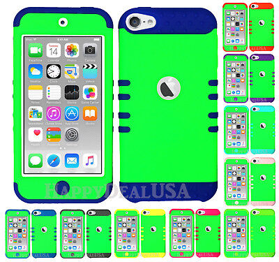 For Apple iPod Touch iTouch 5 6 - KoolKase Hybrid Silicone Cover Case LIME GREEN Itouch Ipod Touch