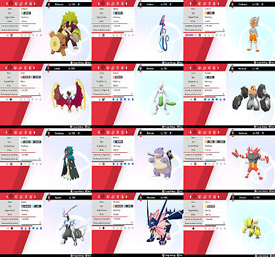 Pokemon Sword & Shield Shiny Pokemon, Perfect IVs/Evs