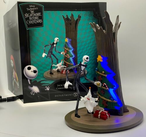 Dept 56 NIGHTMARE BEFORE CHRISTMAS Jack Discovers XMAS TOWN Lit Figure Lights Up
