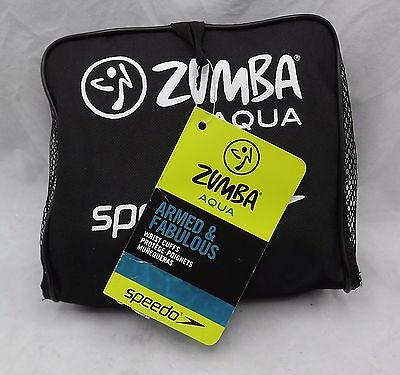 Speedo Zumba Aqua Armed & Fabulous Wrist Cuffs Workout Resistance Gear NWT