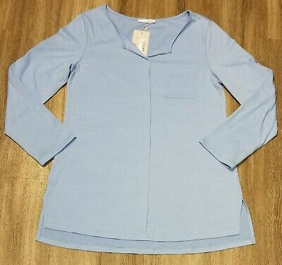 Women's Messic Shirt Top XL Light Blue Casual Long Great with -