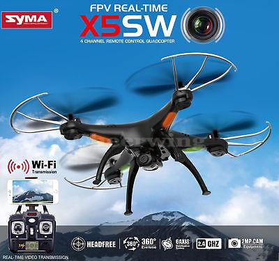 Syma X5SW BLACK FPV 2.4Ghz 4CH 6-Axis Gyro RC Quadcopter Drone /w WIFI Camera