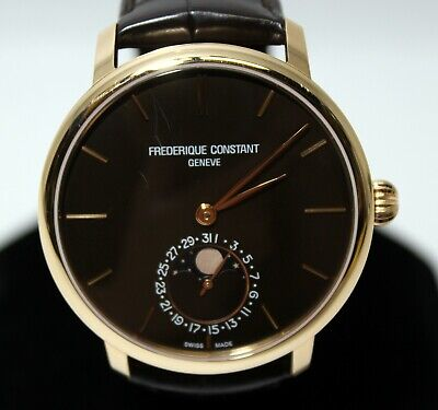 Frederique Constant Moonphase FC-705X4S9 Brown Dial 18K Rose Gold Case - 42mm