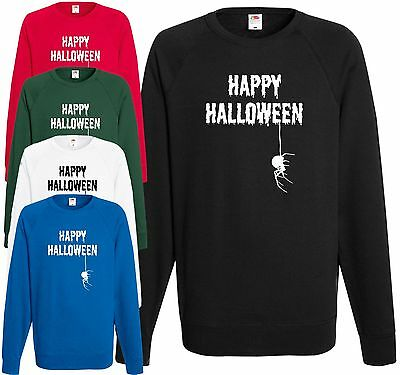 Happy Halloween Spider Sweatshirt Fancy Dress Jumper Cool Top Trick Treat Gift  (Halloween Spider Jump)