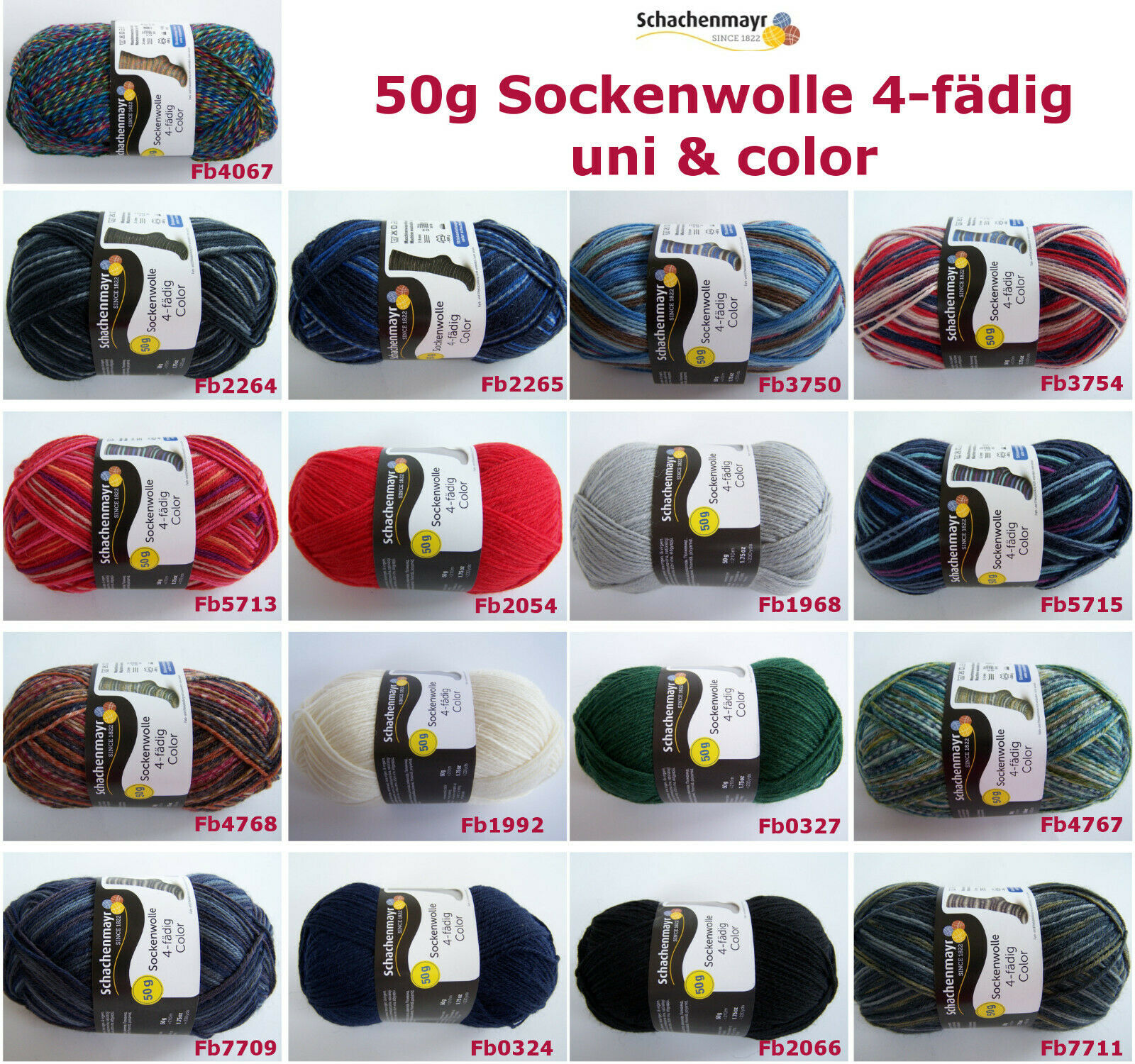 50g (5,00€/100g) Schachenmayr ( REGIA )  Sockenwolle Color & Uni 4-fädig 4-fach