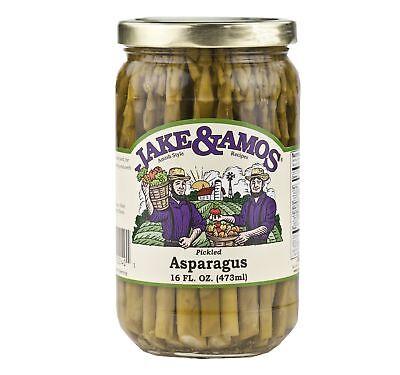 Jake & Amos Pickled Asparagus 16 oz. (3 Jars) - Vegan, Non-GMO - Traditional