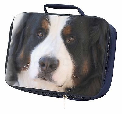 Bernese Mountain Dog Navy Insulated School Lunch Box Bag, AD-BER5LBN
