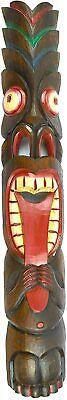 "Tribal Tiki Crazy Tongue Wood Mask Patio Tropical Bar Wall Decor Design 39"""