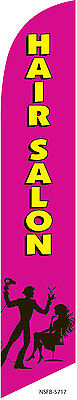 Hair Salon Hot Pink 12ft Feather Banner Swooper Flag - Flag Only