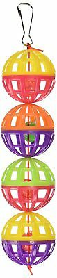 "PENN PLAX 6"" LATTICE BALLS WITH BELL SMALL BIRD TOY. FREE SHIPPING IN THE USA"