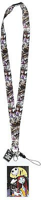 Disney The Nightmare Before Christmas Jack & Sally Lanyard with Soft Dangle Card